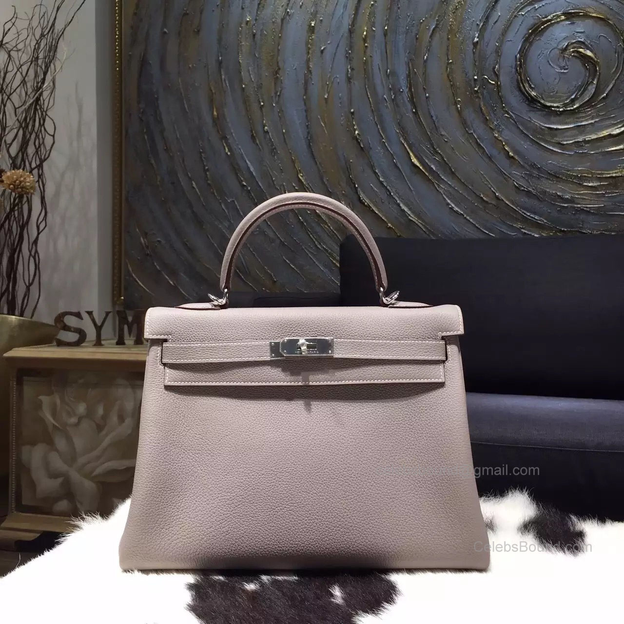 c2c7171a4c0a Hermes Kelly 32 Bag Gris Tourterelle ck81 Togo Leather Handstitched Silver  hw
