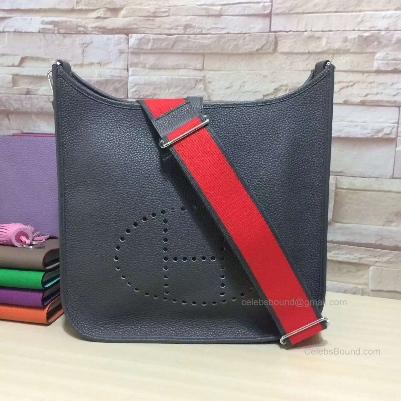 Hermes Evelyne III Iron Grey Bag PM in Togo Leather