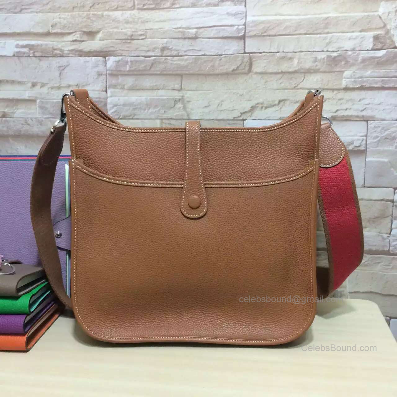 Hermes Evelyne III Bag PM in Brown Togo Leather