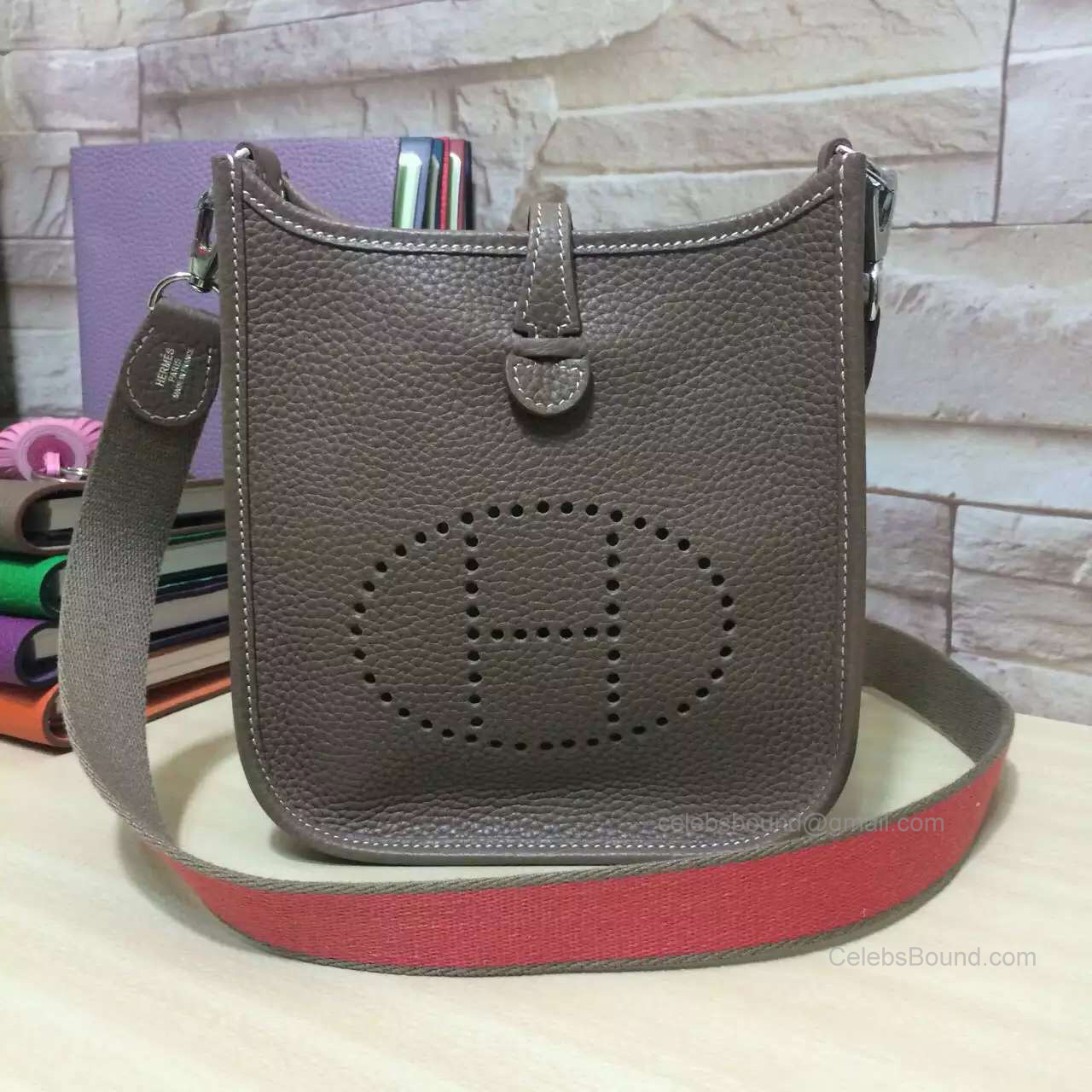 Hermes Evelyne III Bag in Etoupe Togo Leather TPM
