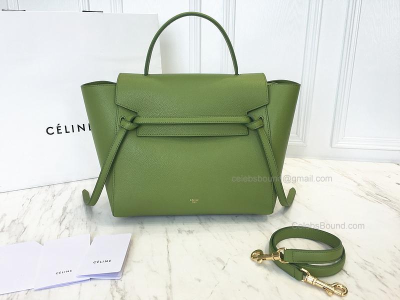 93c5077a349b Ultimate Replica Celine Mini Belt Bag in Green Baby Grained Calfskin