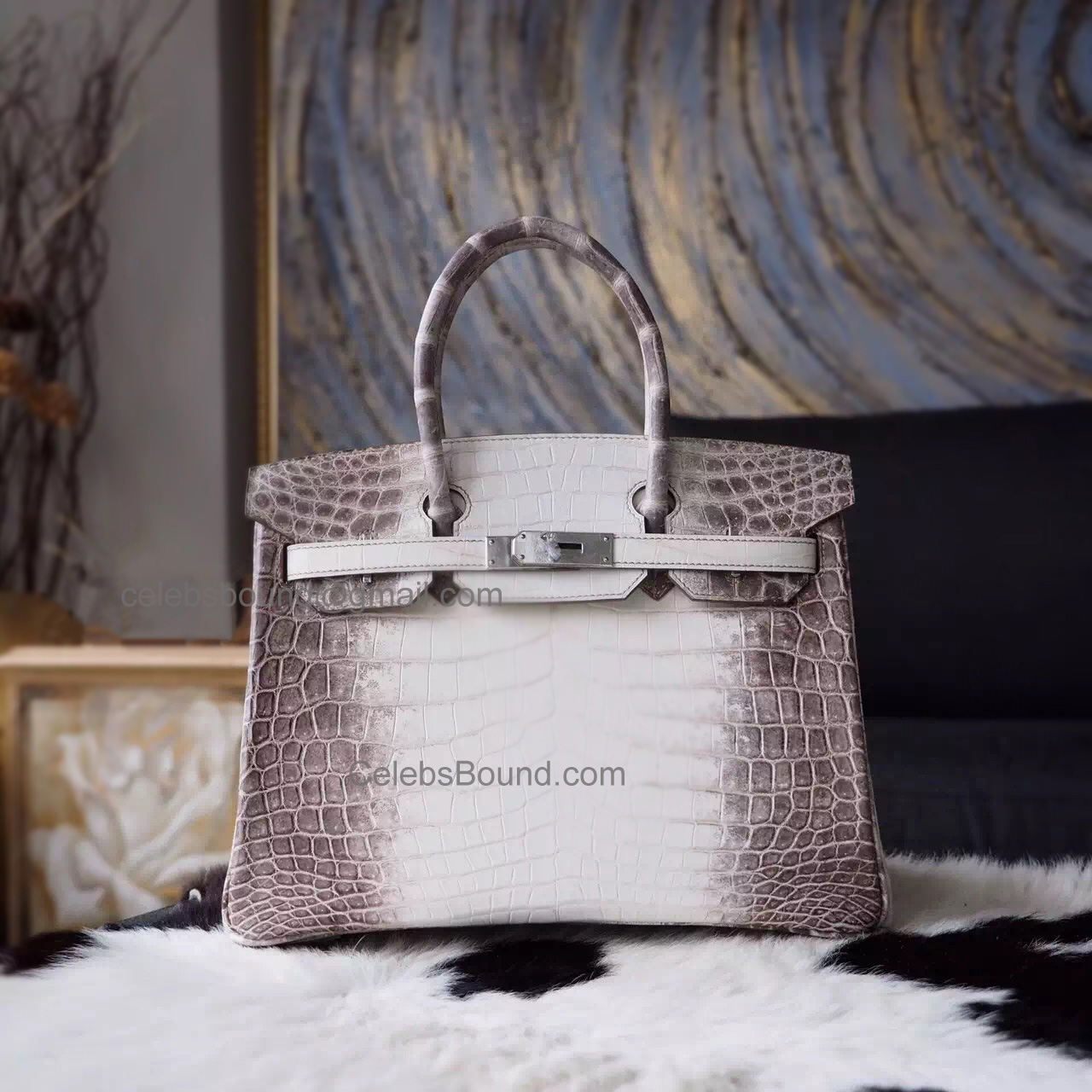 379002df9aed Hand Stitched Hermes Birkin 30 Bag in Himalayan Croc SHW