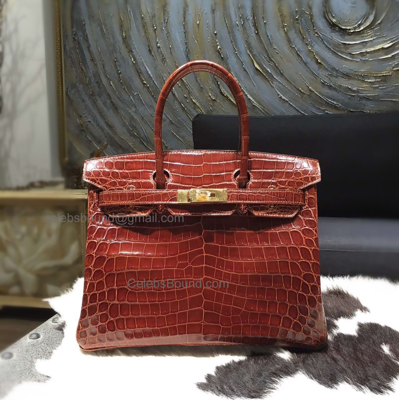 a8bd8c7926be Hand Stitched Hermes Birkin 30 Bag in ck31 Miel Shining Niloticus Croc GHW