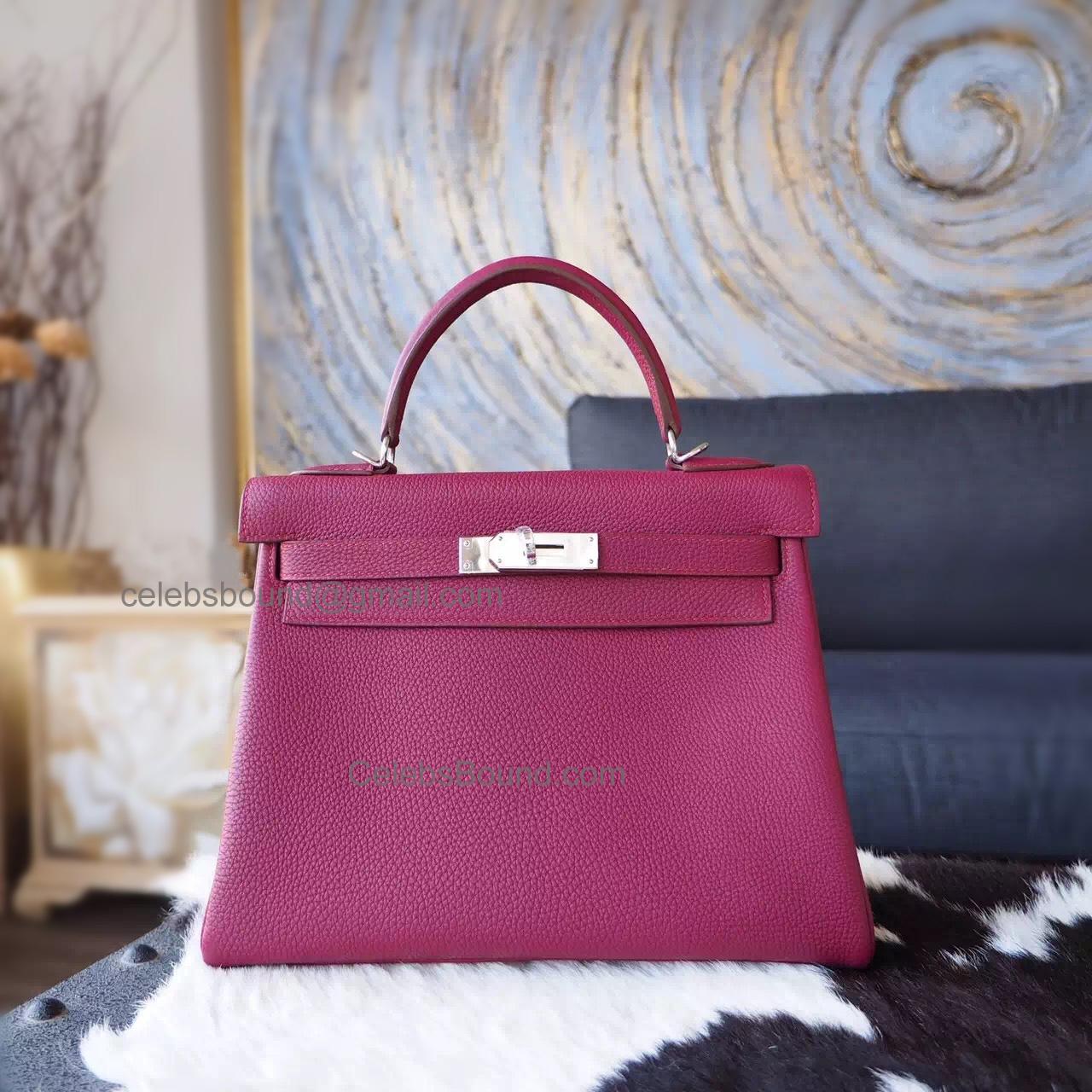 9e68a4f1189 Replica Hermes Kelly 28 Handmade Bag in k5 Tosca Togo Calfskin SHW