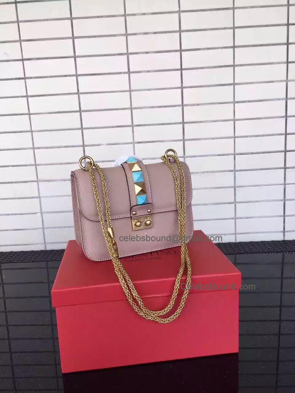 0bafa292b Replica Valentino Garavani Skin Color Small Chain Cross Body Bag Antique  Gold