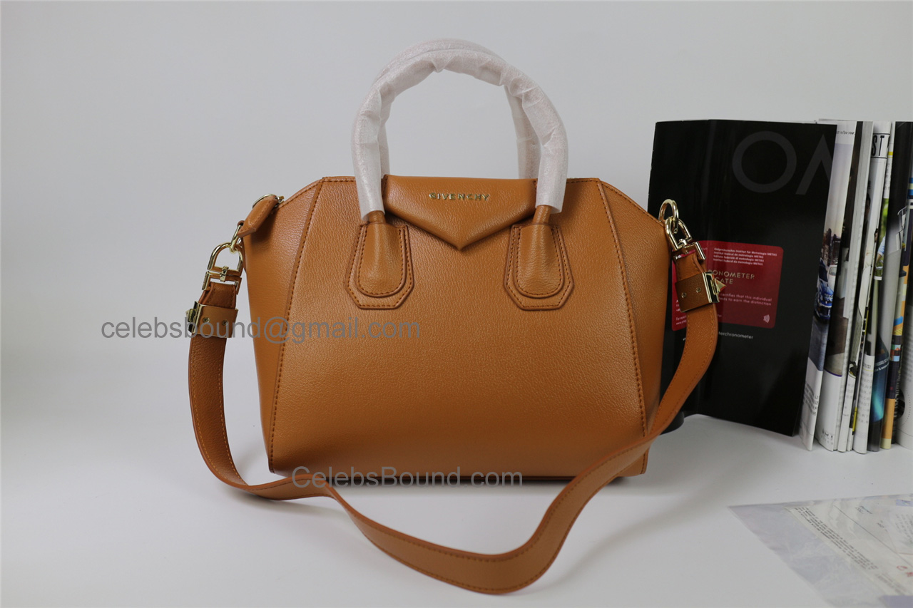 Replica Givenchy Antigona Brown Lambskin Medium Bag