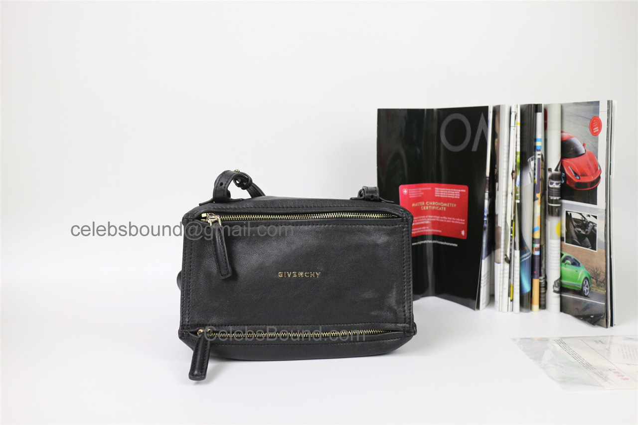 Replica Givenchy Pandora Black Lambskin Small Bag ghw