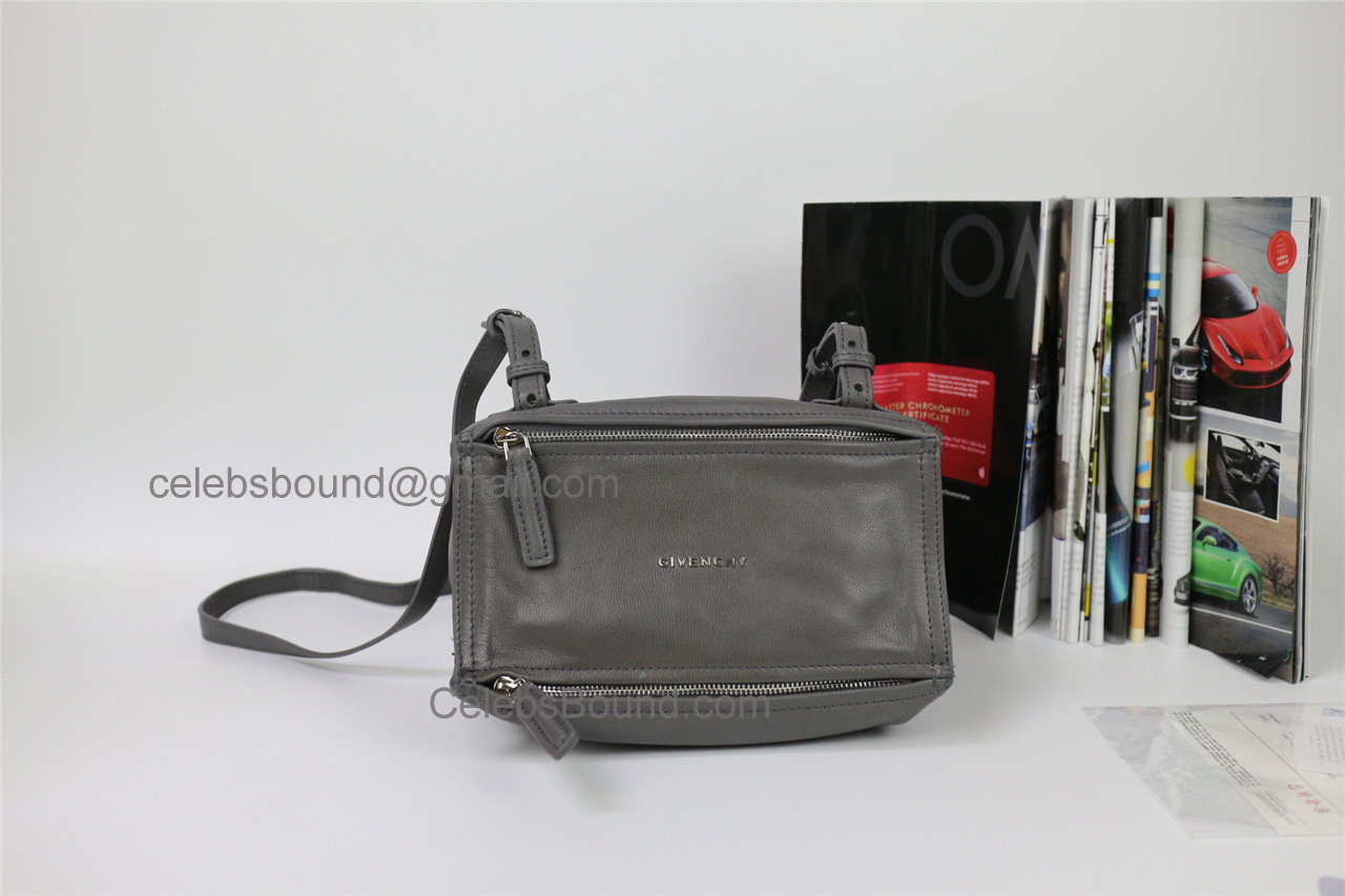 Replica Givenchy Pandora Grey Lambskin Small Bag