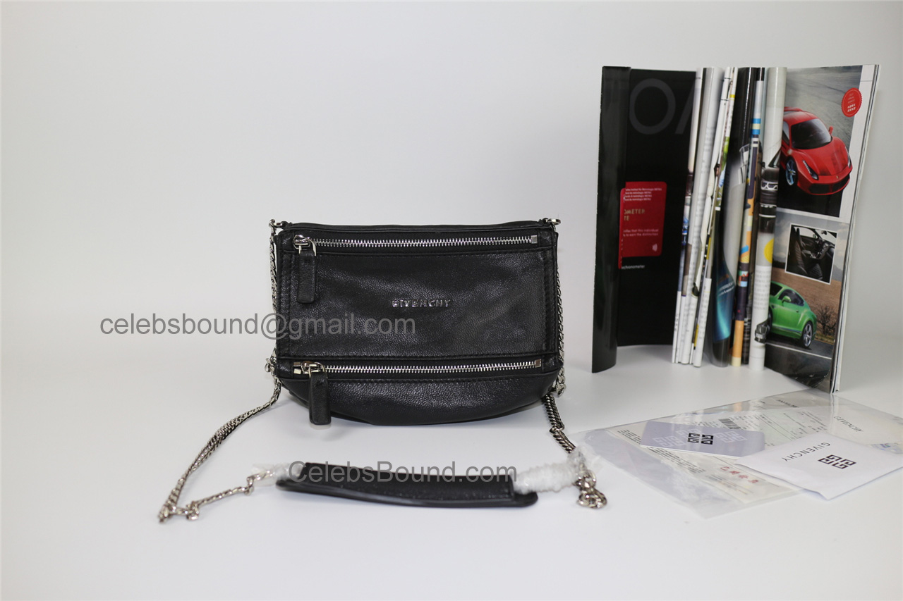 Replica Givenchy Pandora Black Lambskin Small Bag shw