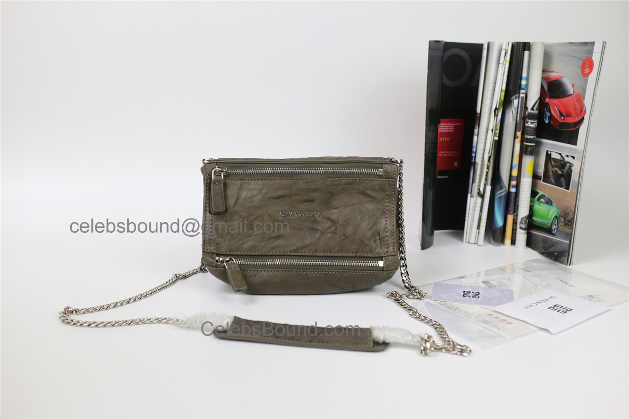 Replica Givenchy Pepe Pandora Khaki Lambskin Small Bag