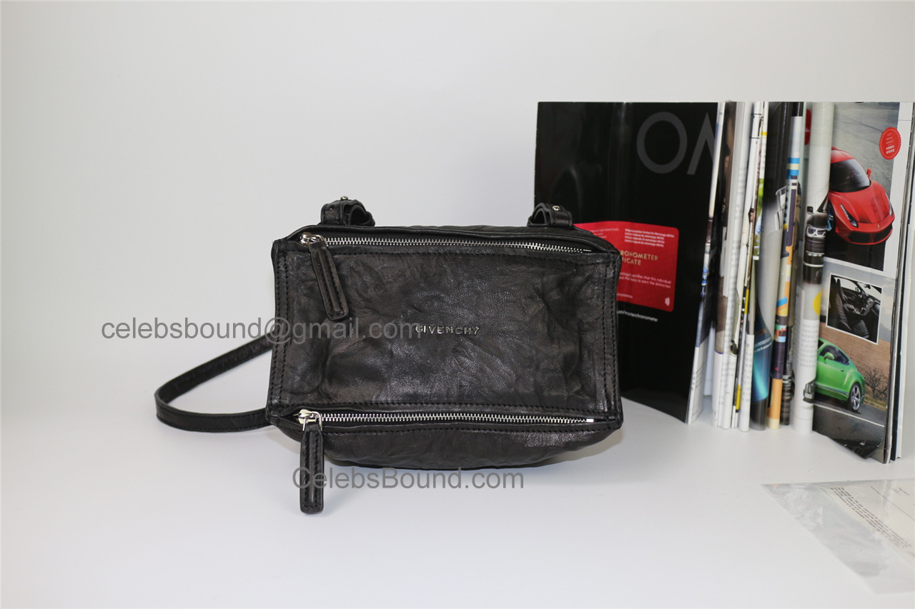 Replica Givenchy Pepe Pandora Black Lambskin Small Bag
