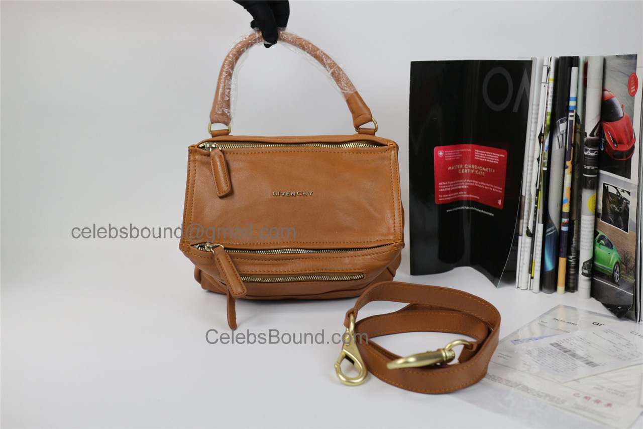 Replica Givenchy Pandora Brown Lambskin Medium Bag