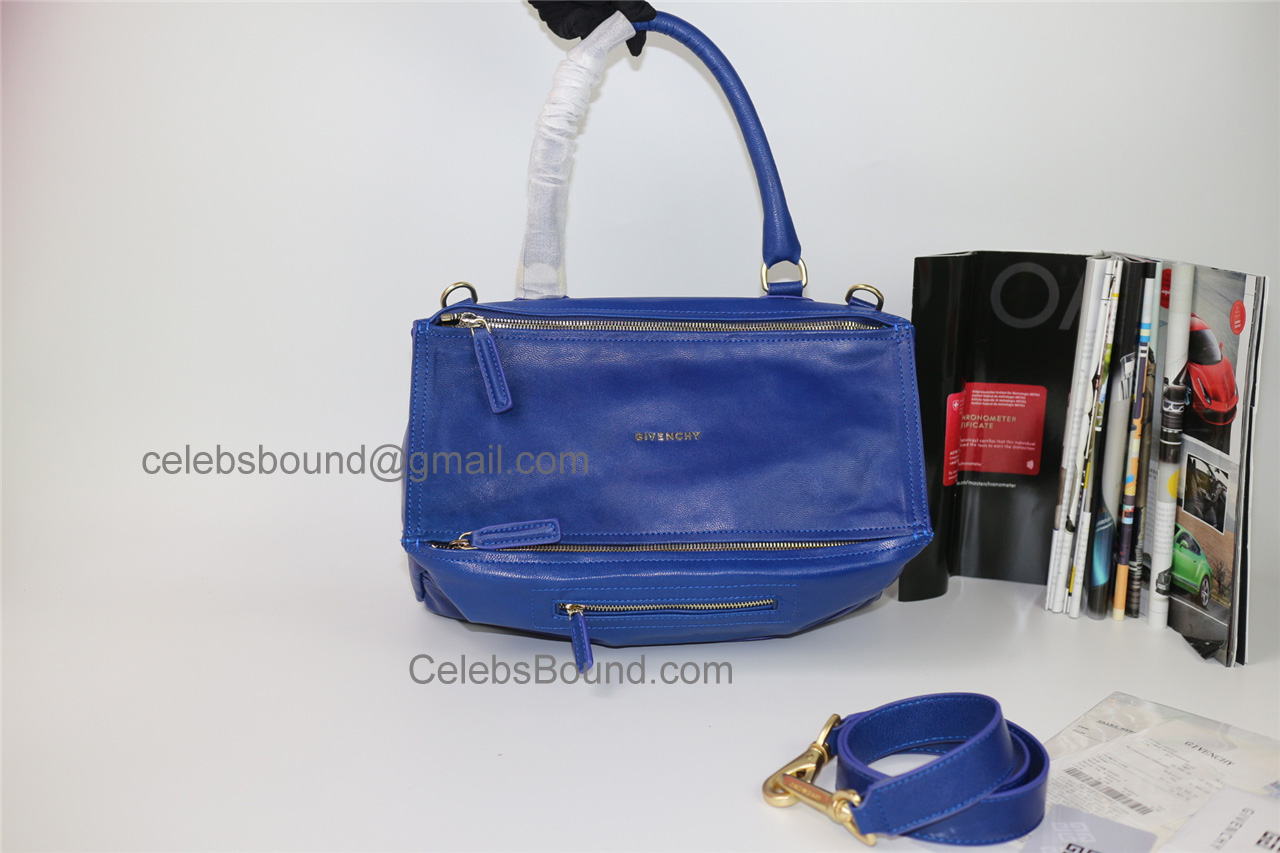 Replica Givenchy Pandora Blue Lambskin Large Bag