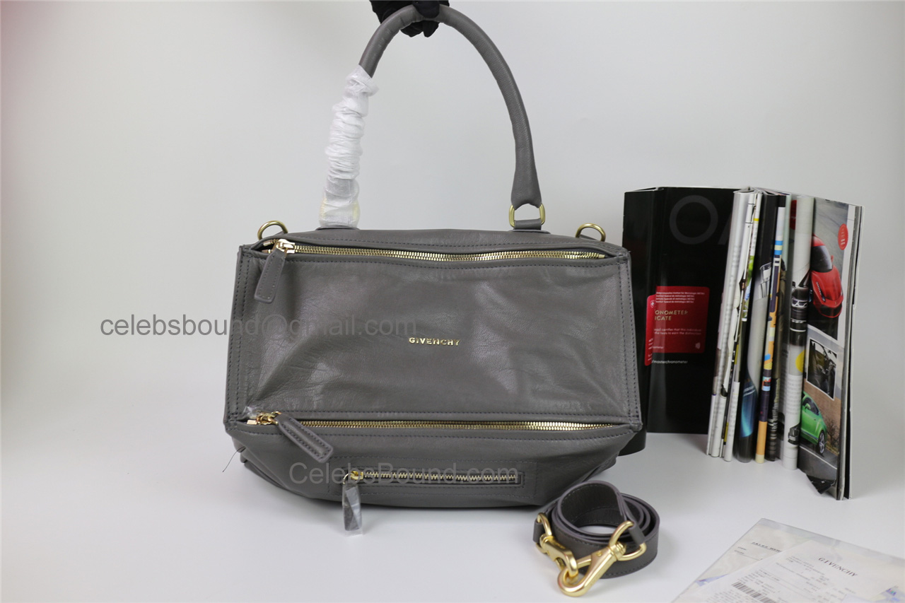 Replica Givenchy Pandora Grey Lambskin Large Bag