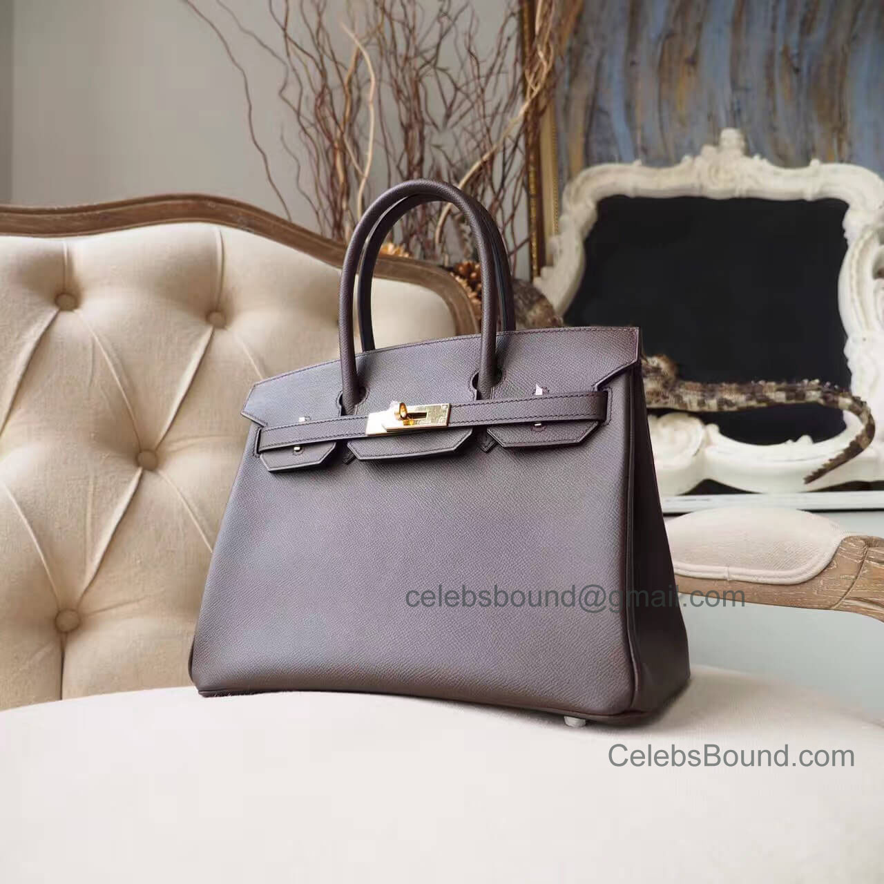 Hermes Birkin 30 Handbag in ck47 Chocolate Epsom GHW
