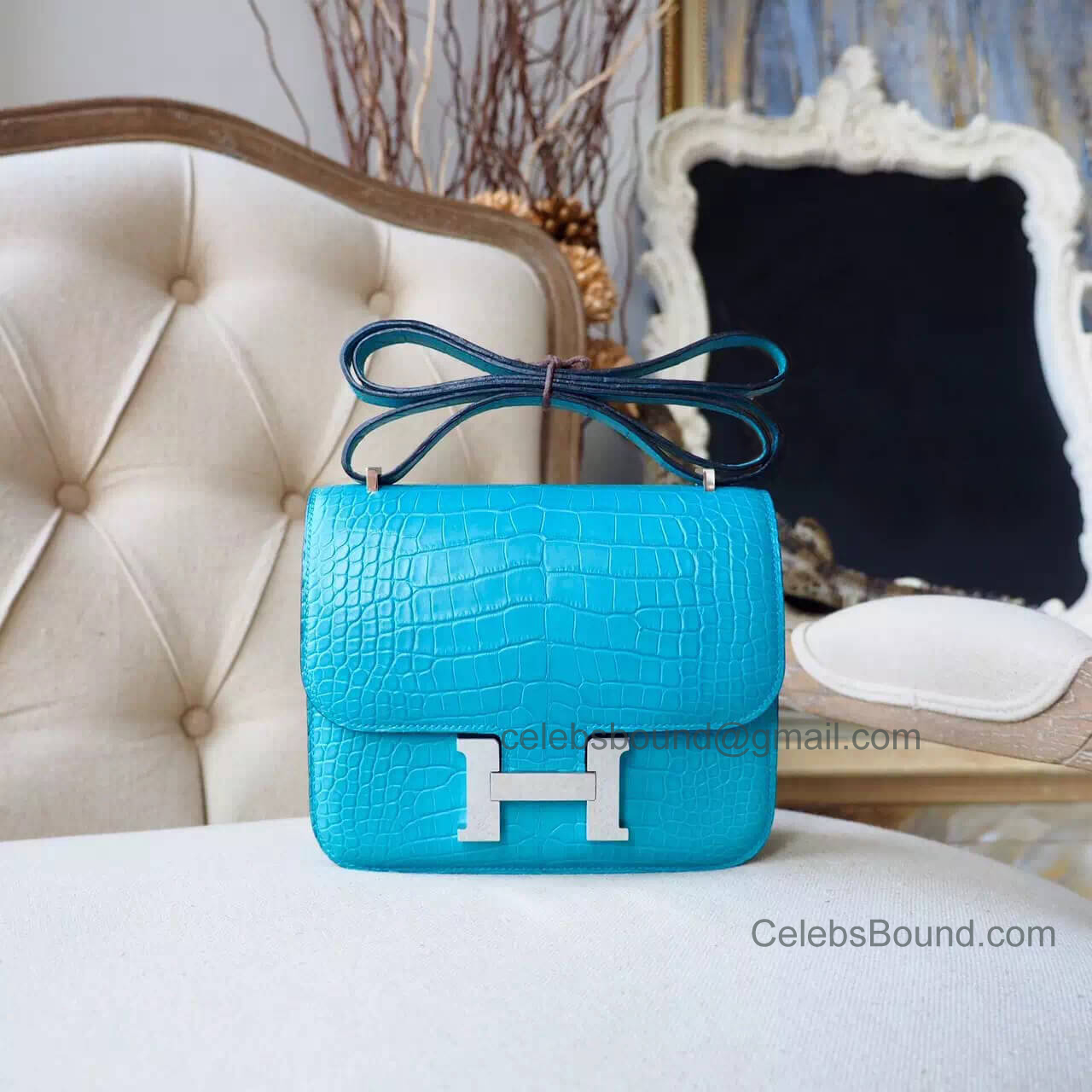 Replica Hermes Mini Constance 18 Bag in 3z Saomt Cyr Matte Alligator PHW