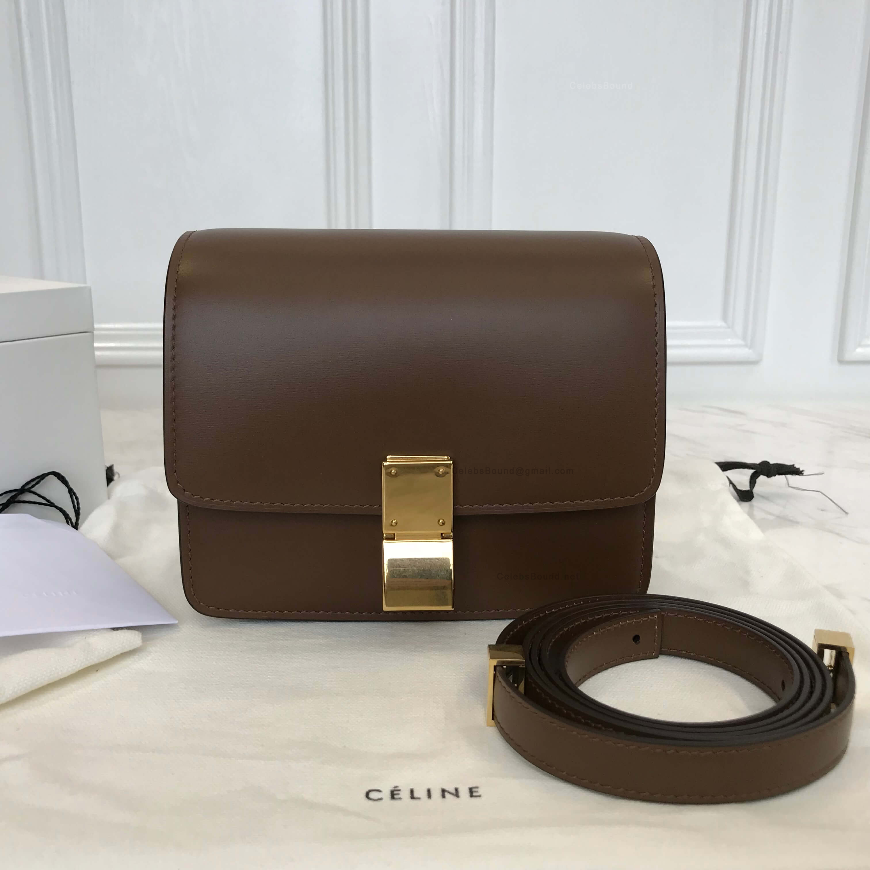 acd66baca65bb Celine Classic Box Bag Small in Brown Liege Calfskin -