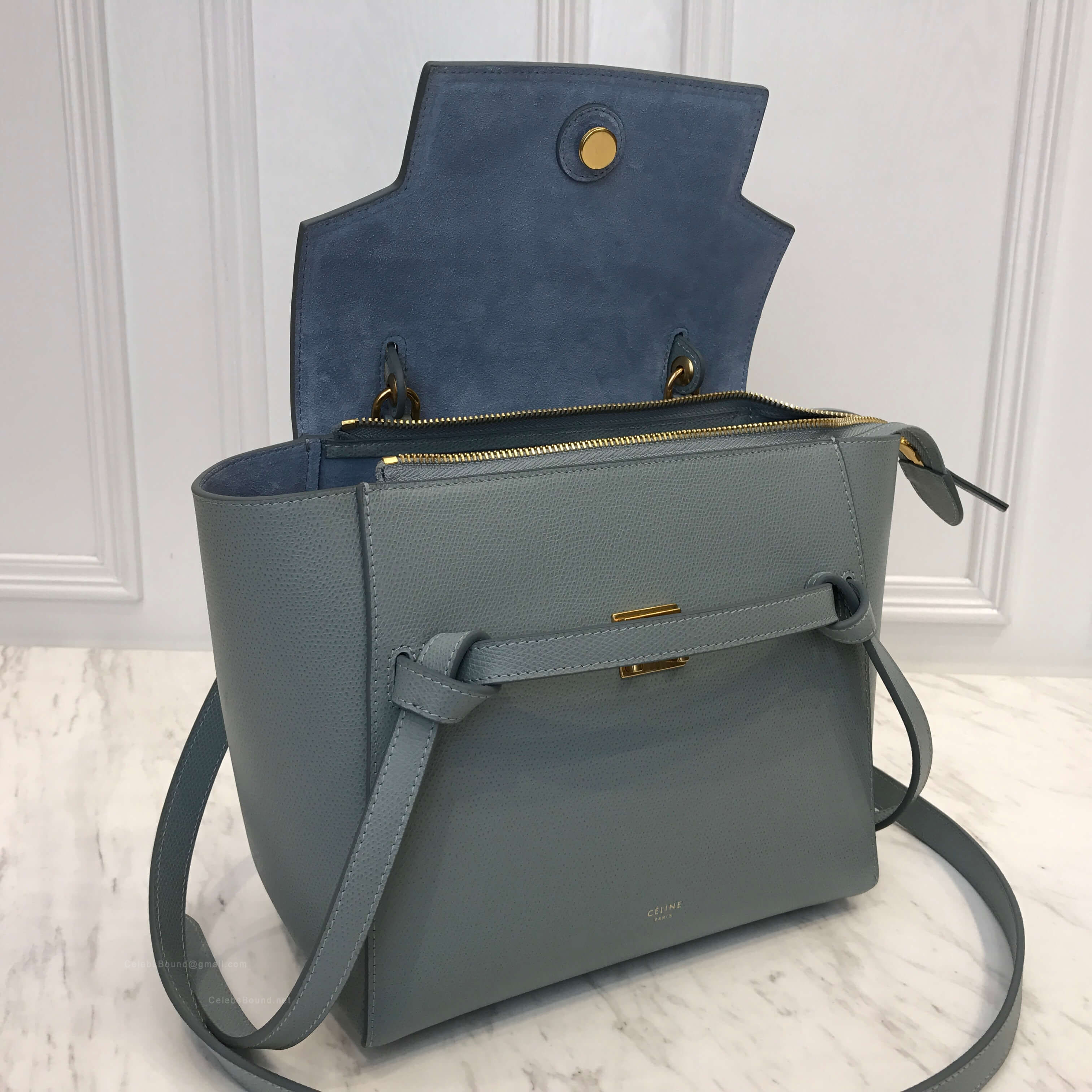 c5ba868e71 Celine Micro Belt Bag in Cloud Grained Calfskin -