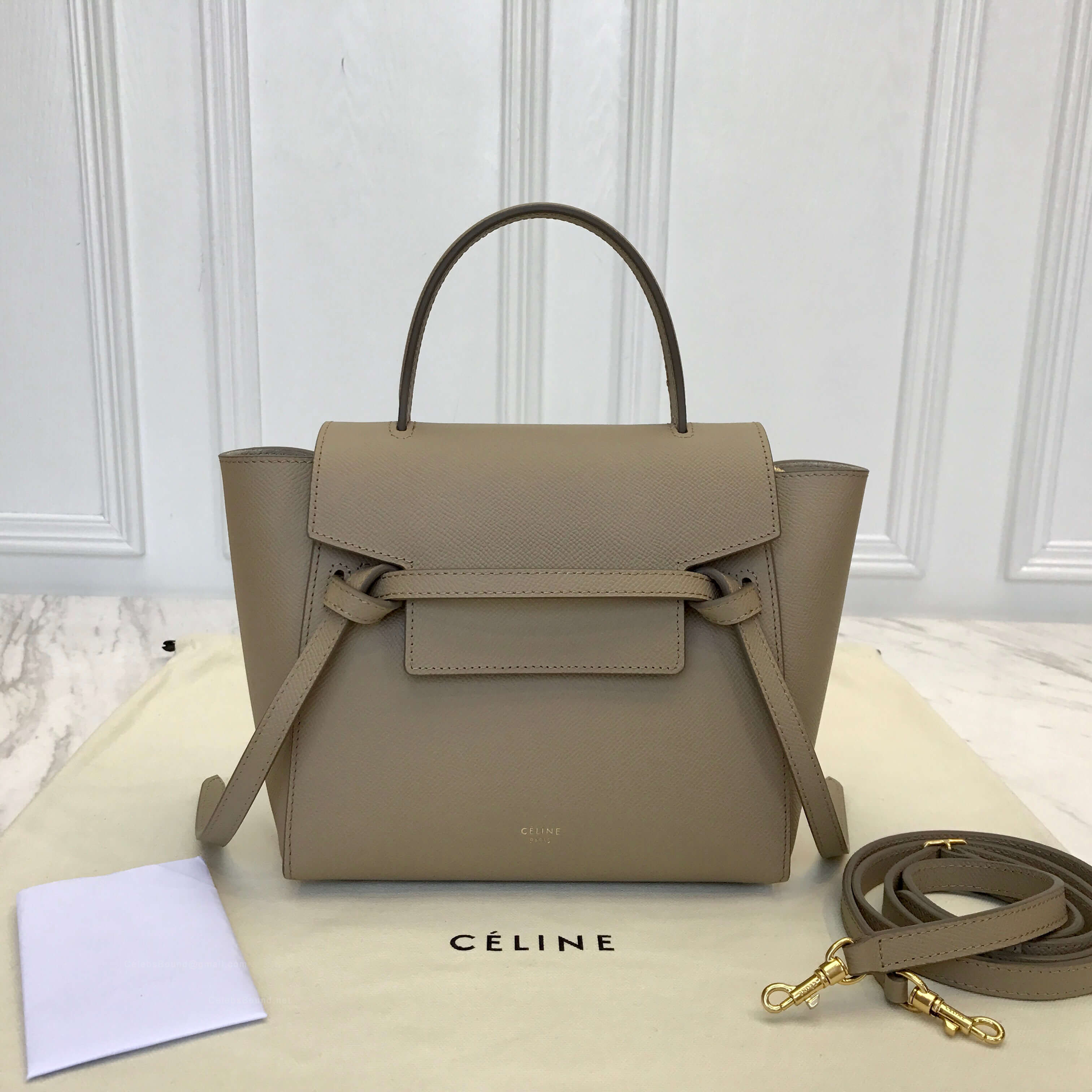 0de37658eb4f Celine Nano Belt Bag in Dune Epsom Leather