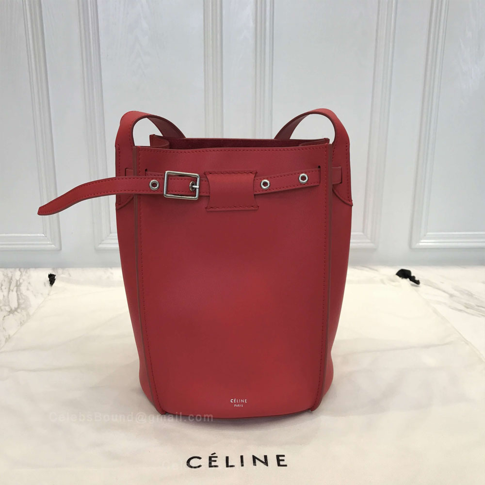 Celine Big Bag Bucket With Long Strap in Fox Red Soft Bare Calfskin