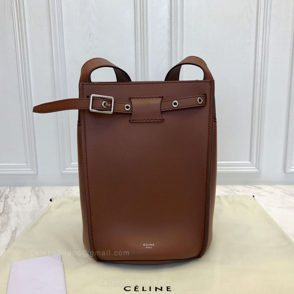 Celine Big Bag Bucket With Long Strap in Brulee Soft Bare Calfskin