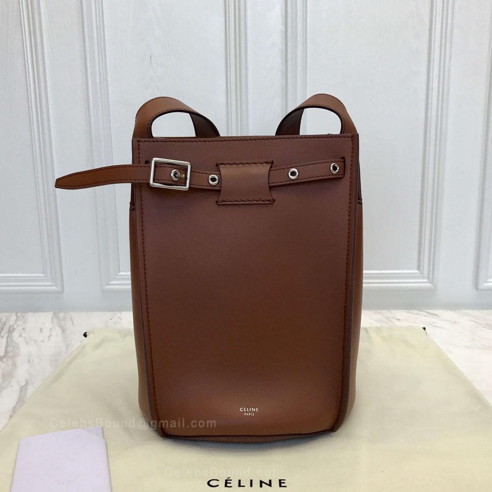 Celine Big Bag Bucket With Long Strap in Brulee Soft Bare Calfskin ... 2d48a2008bd9a