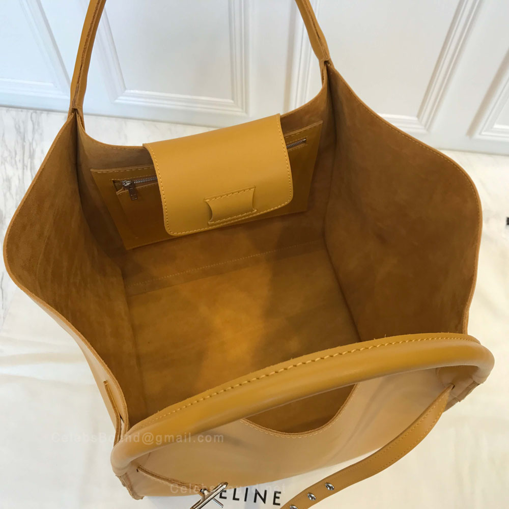 672dc7c09e12 Celine Medium Big Bag in Sunflower Soft Bare Calfskin - Celine Replica