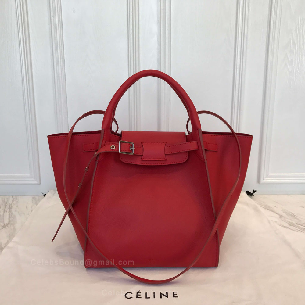 Celine Small Big Bag in Fox Red Soft Bare Calfskin