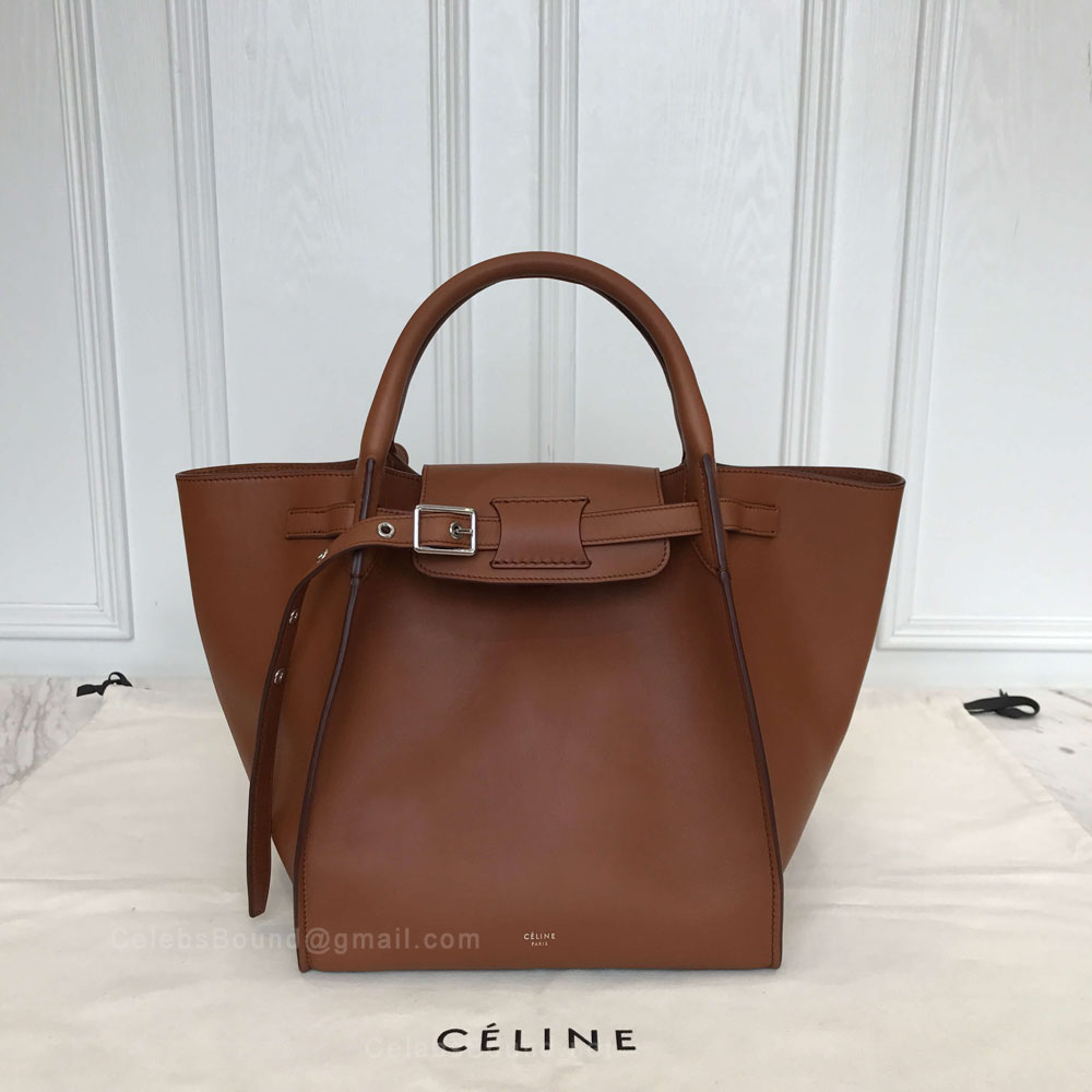 Celine Small Big Bag in Brulee Soft Bare Calfskin