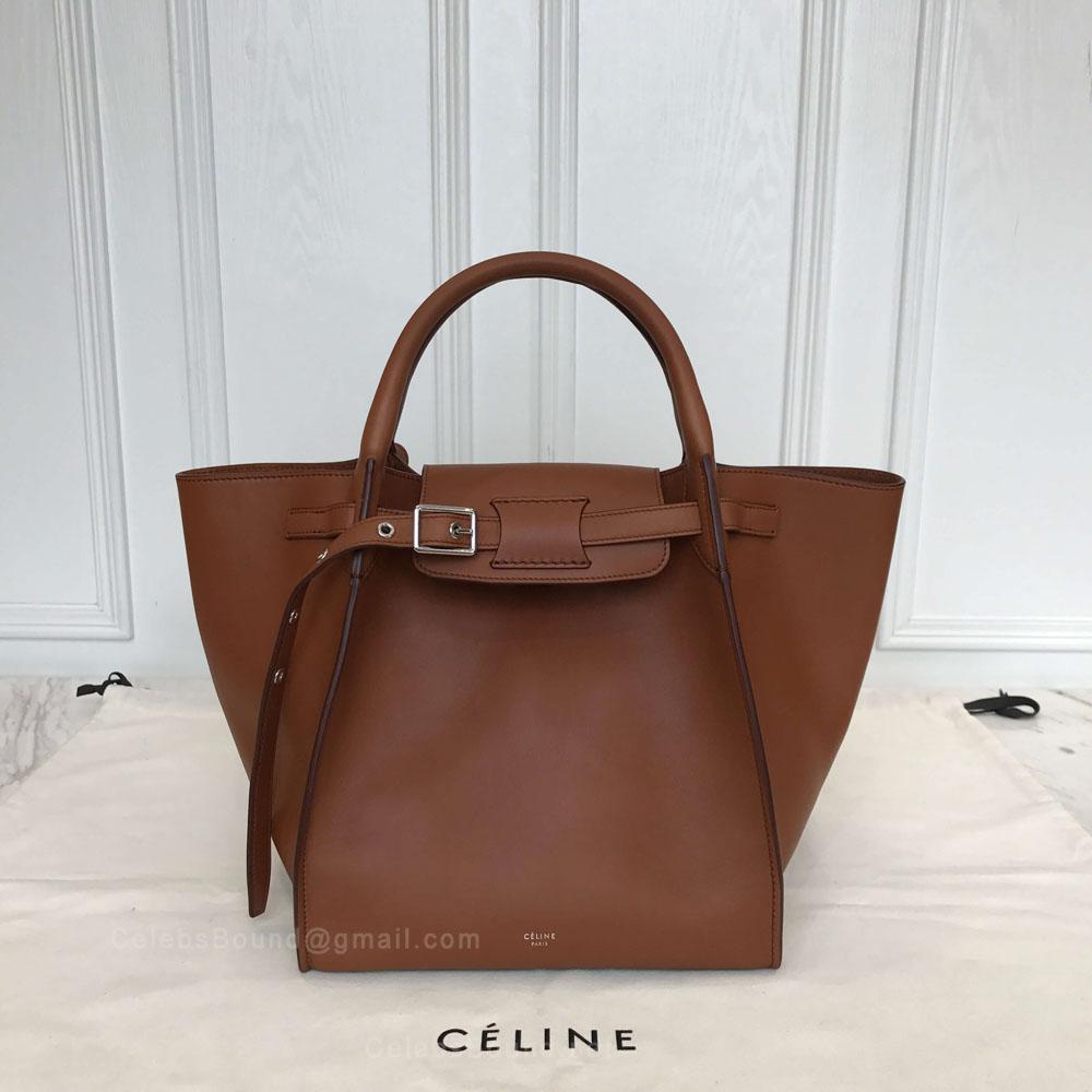 Celine Small Big Bag in Brulee Soft Bare Calfskin - Celine Replica 6ee4fd64d54ca