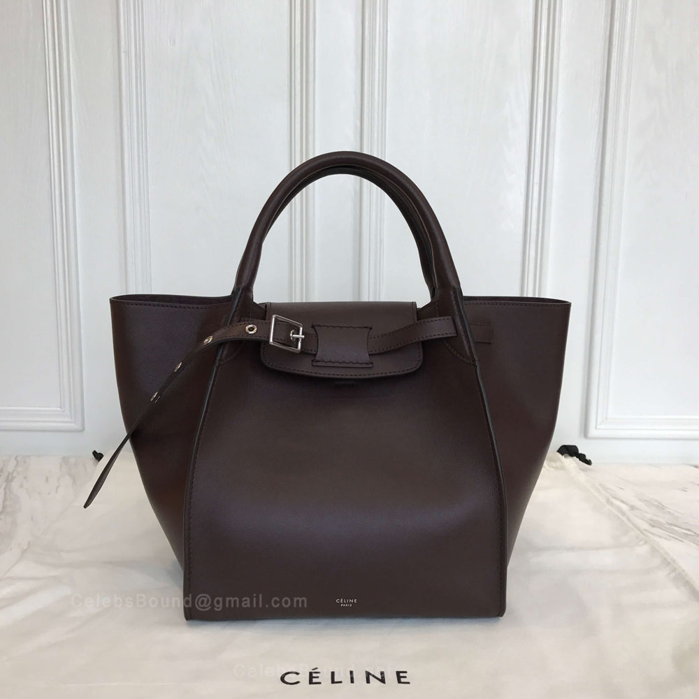 Celine Small Big Bag in Bordeaux Soft Bare Calfskin