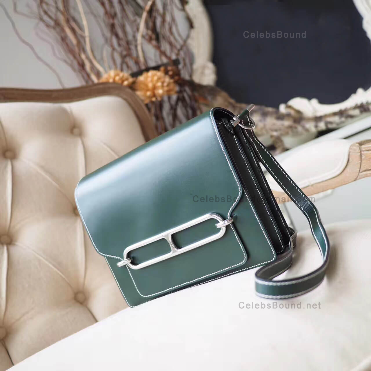 Replica Hermes Roulis 23 Bag in 2q Vert Anglais Box PHW
