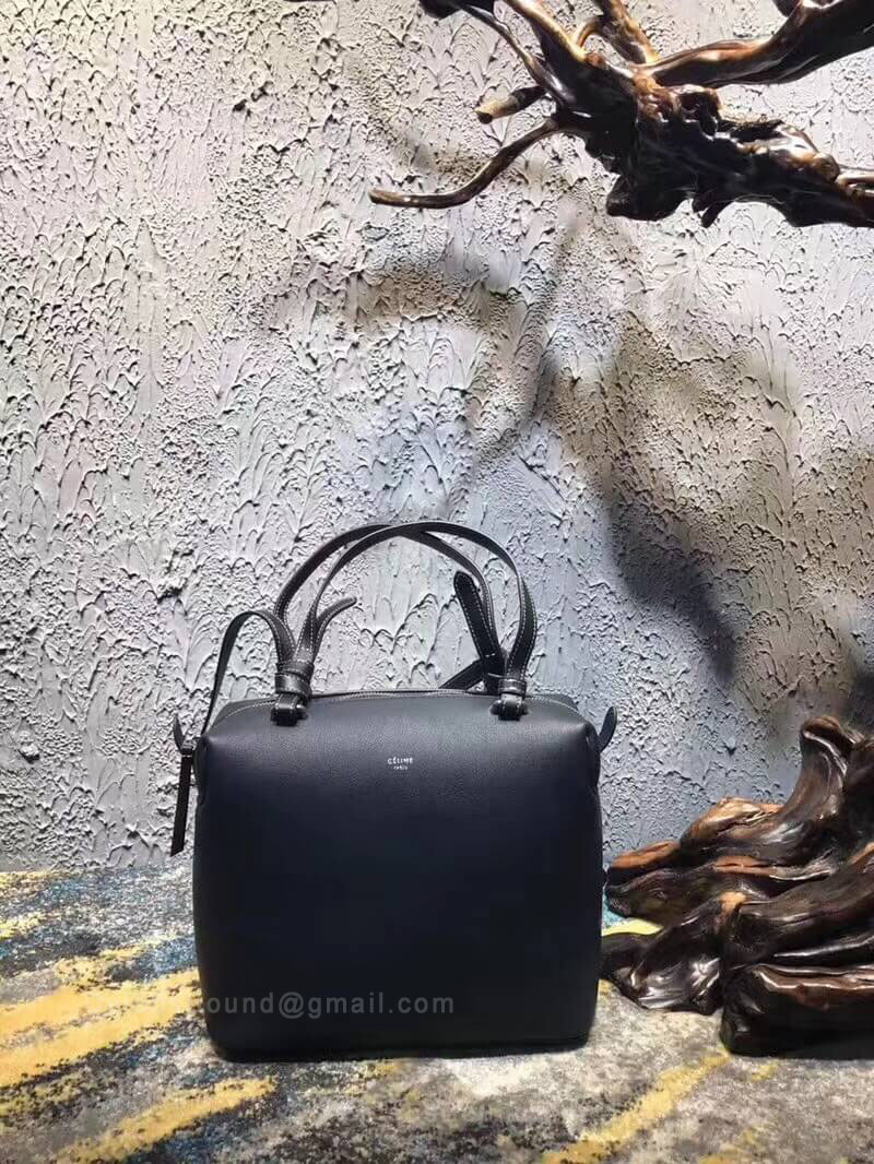 Celine Small Soft Cube Bag in Black Smooth Calfskin