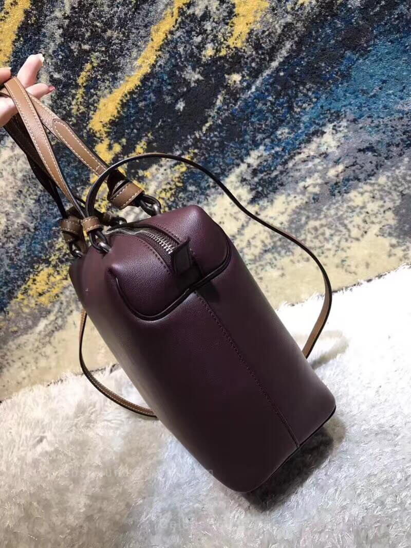 Celine Small Soft Cube Bag in Burgundy Smooth Calfskin - Celine Replica 84efd3ffaa50f