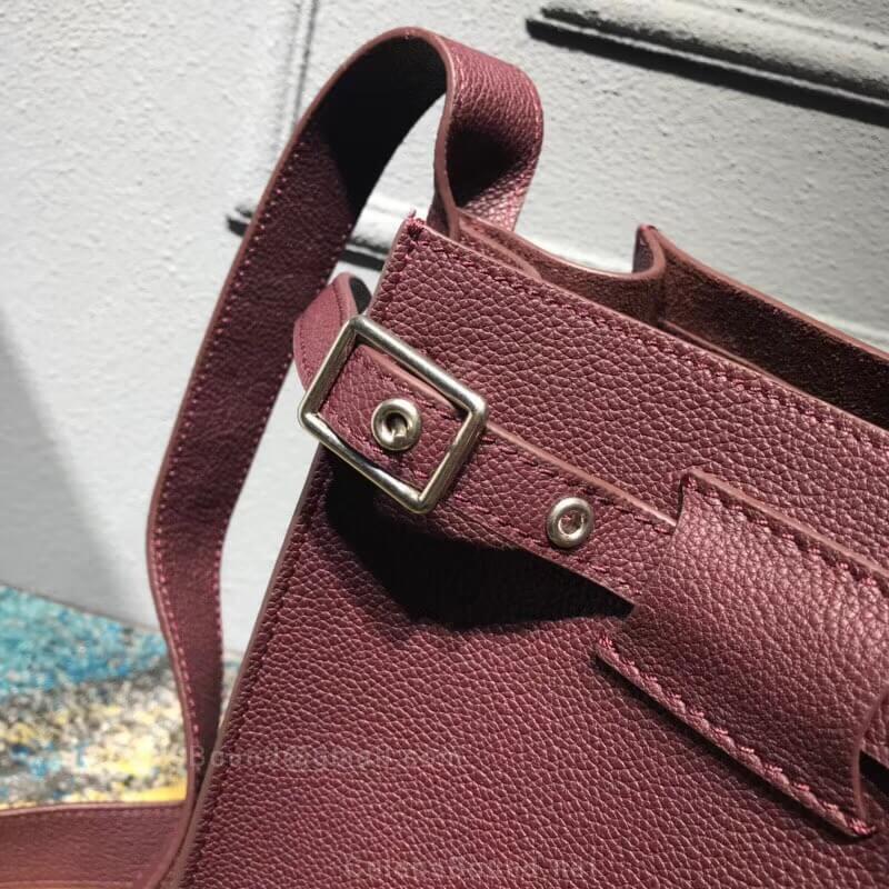9b5dfa4d32 Celine Big Bag Bucket With Long Strap in Burgundy Supple Grained Calfskin