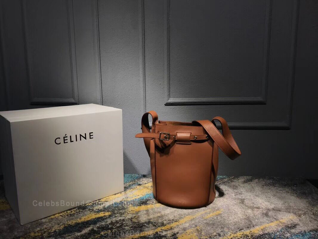 Celine Big Bag Bucket With Long Strap in Camel Soft Bare Calfskin