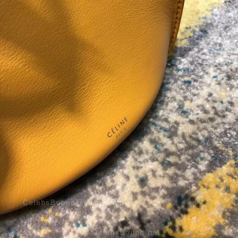 8f5e142f5edc Celine Big Bag Bucket With Long Strap in Sunflower Soft Bare Calfskin -  Celine Replica