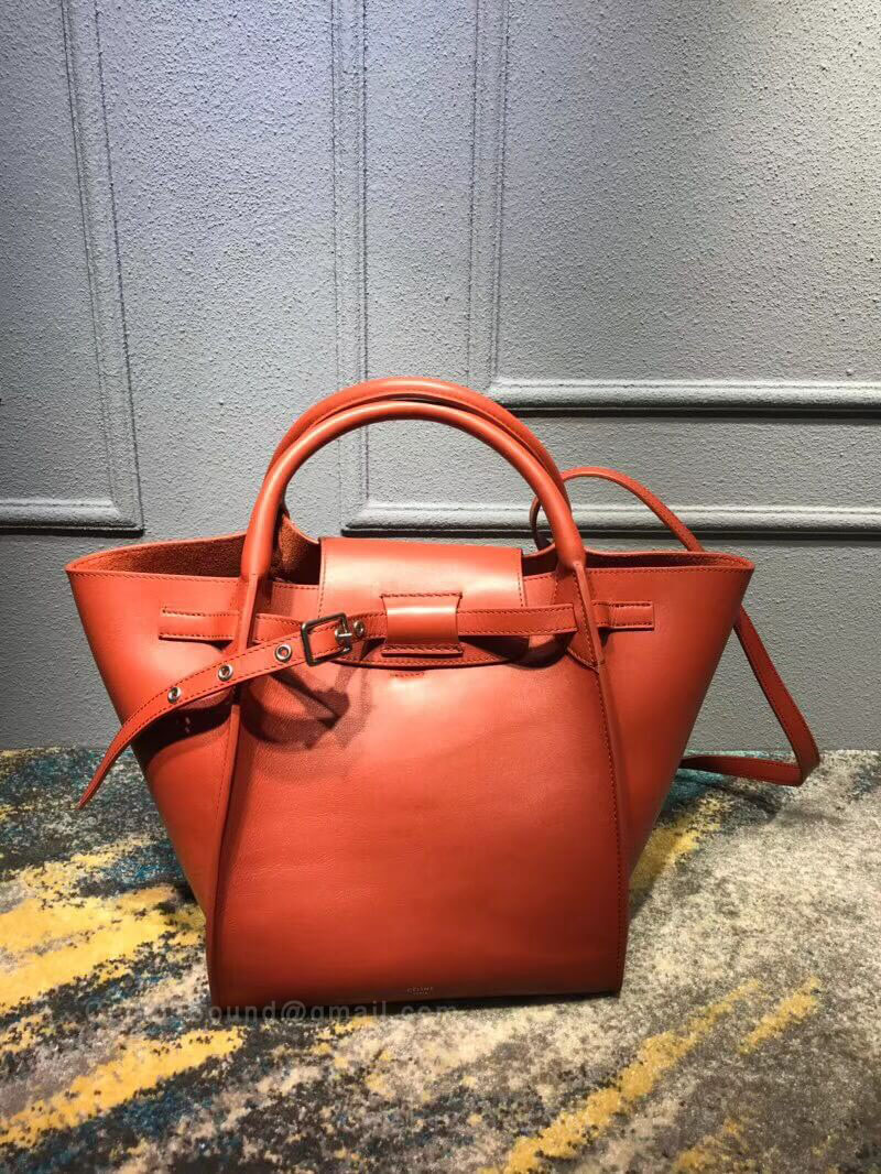 Celine Small Big Bag in Tawny Soft Bare Calfskin