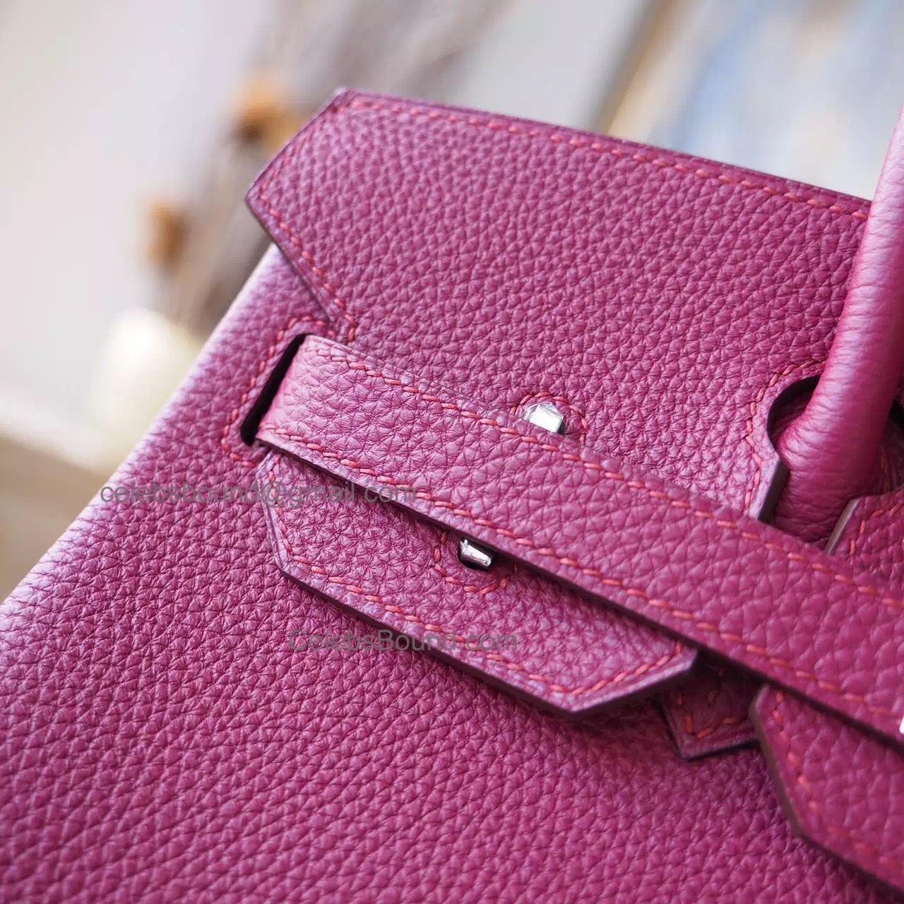 c8e256b5b443 Hand Stitched Hermes Birkin 30 Bag in k5 Tosca Togo Calfskin SHW -