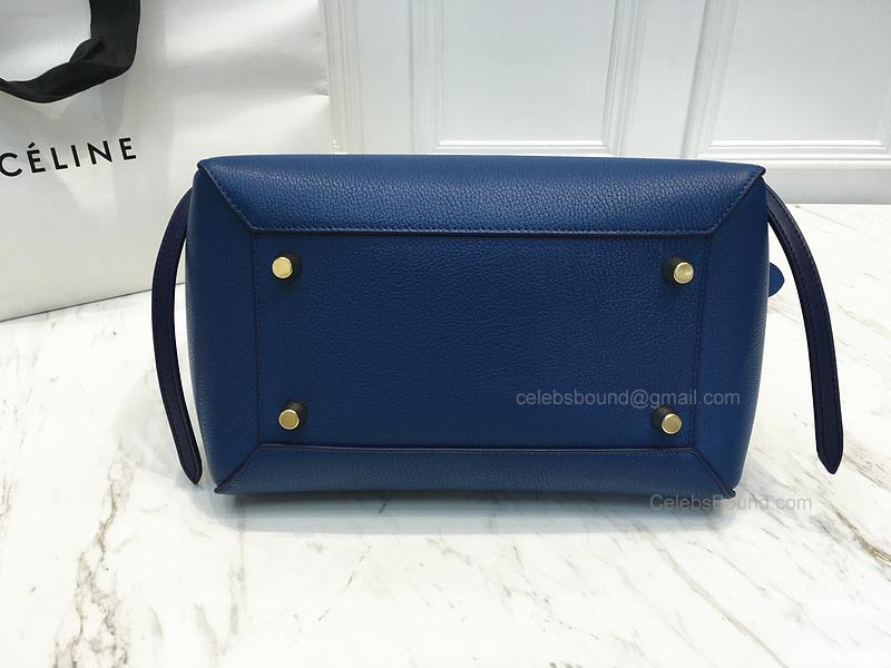 9f4e504d0417 Ultimate Replica Celine Mini Belt Bag Multi in Sea Blue Goatskin -