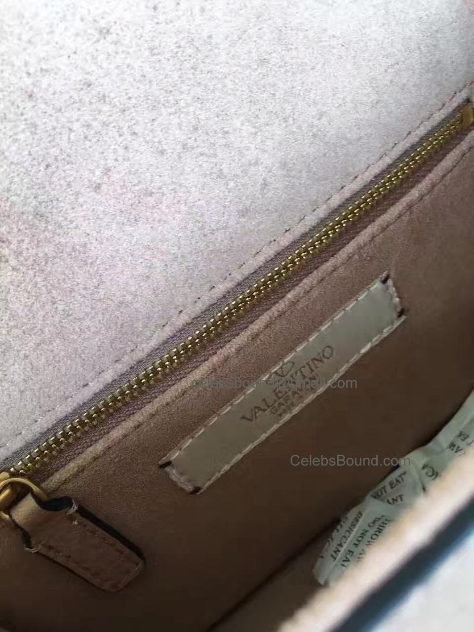5ec7ed05ae418 Replica Valentino Garavani Skin Color Small Chain Cross Body Bag Antique  Gold
